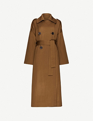 PETAR PETROV Mona double-breasted wool-silk twill trench coat
