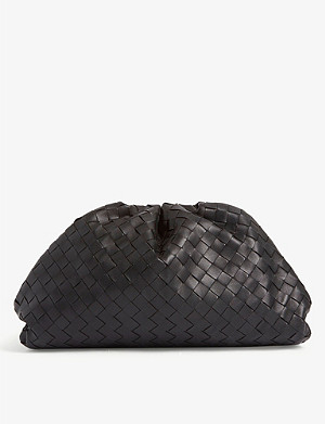 BOTTEGA VENETA The Pouch intrecciato leather shoulder bag