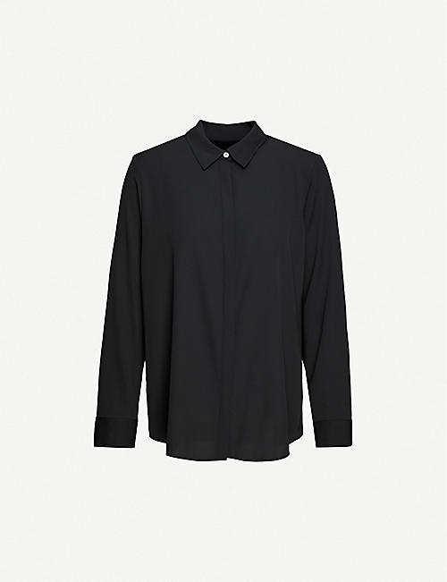 THE ROW: Petah relaxed-fit stretch-silk shirt
