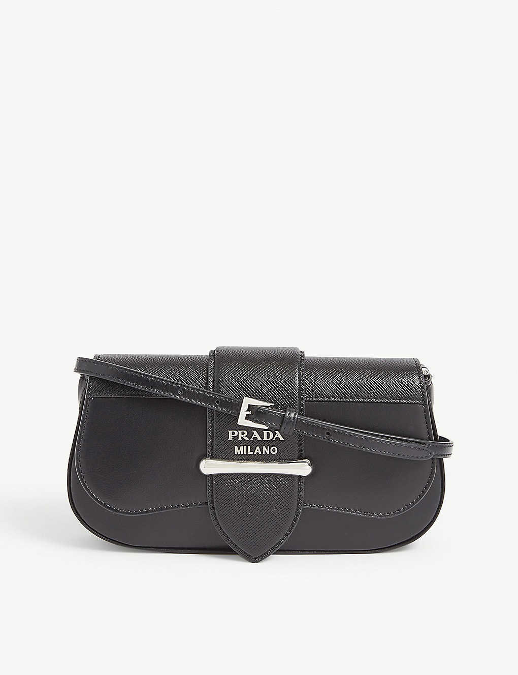 PRADA: Sidone leather cross-body bag