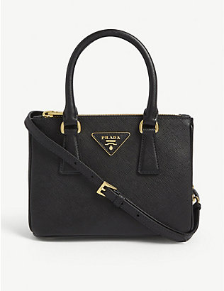 PRADA: Baby Galleria leather mini tote bag