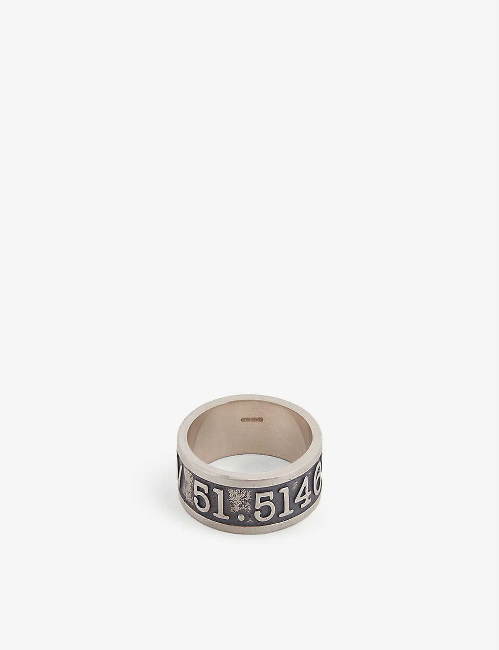 SERGE DENIMES: Co-ordinates sterling silver ring