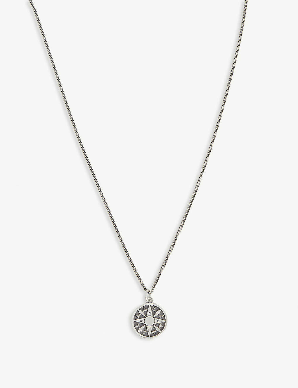 SERGE DENIMES: Compass silver necklace