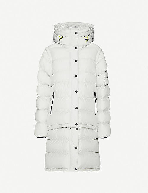 49 WINTERS: High-neck padded shell-down coat