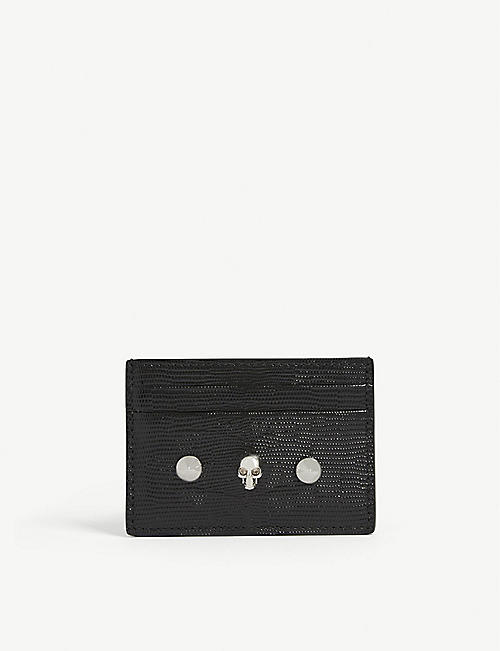 ALEXANDER MCQUEEN: Skull leather card holder