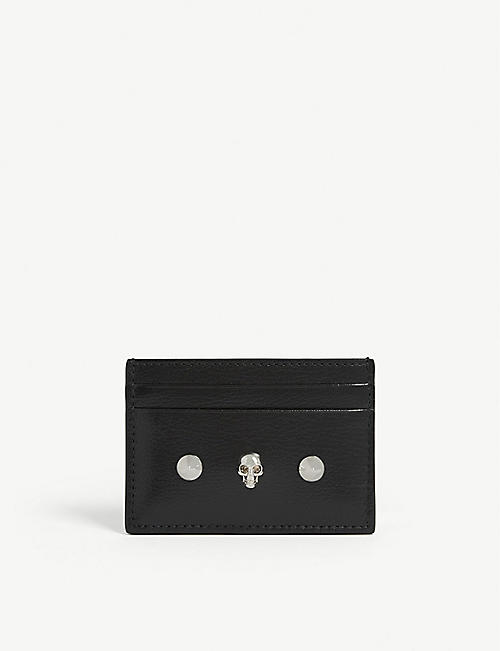 ALEXANDER MCQUEEN Skull leather card holder