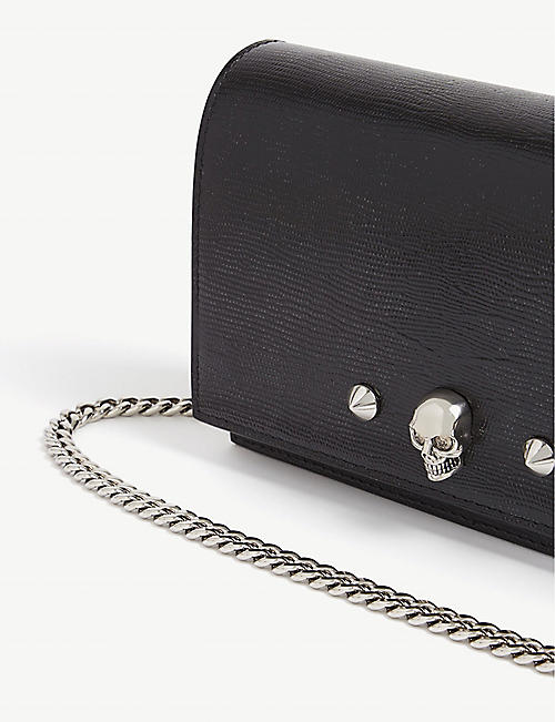 ALEXANDER MCQUEEN Faux-snake small leather cross-body bag