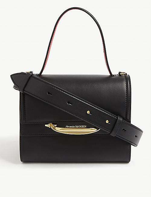 ALEXANDER MCQUEEN: Story double flap leather bag