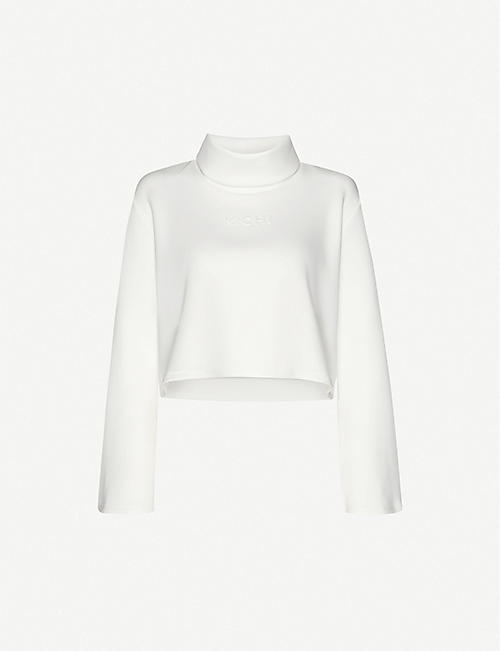MICHI Lair stretch-woven top