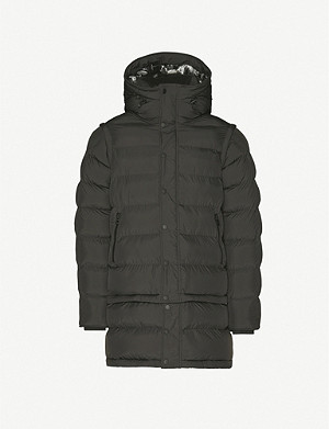 49 WINTERS Exclusive padded hooded shell jacket