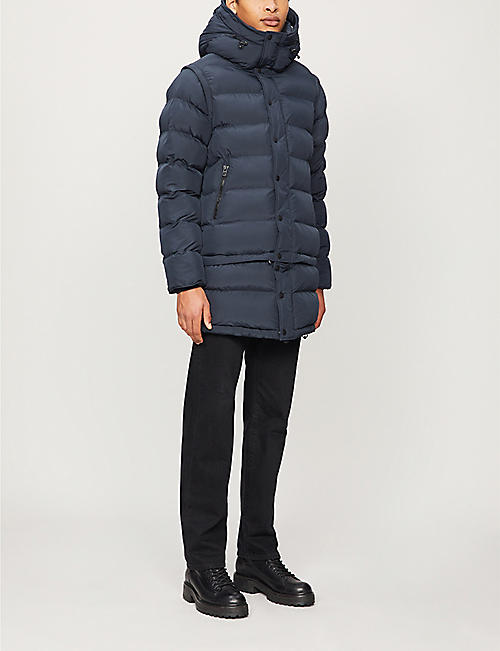 49 WINTERS Hooded funnel-neck shell jacket