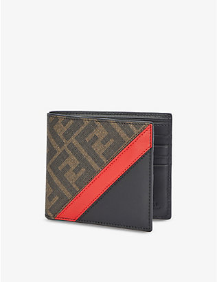 FENDI: FF logo-print faux-leather wallet