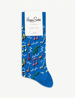 HAPPY SOCKS Music combed cotton socks