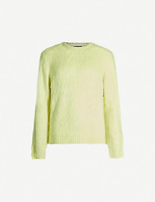 STUSSY Textured stretch-knit jumper