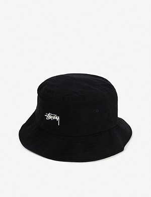 STUSSY Logo-embroidered cotton bucket hat