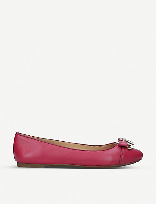 MICHAEL MICHAEL KORS Alice bow-embellished leather ballet flats