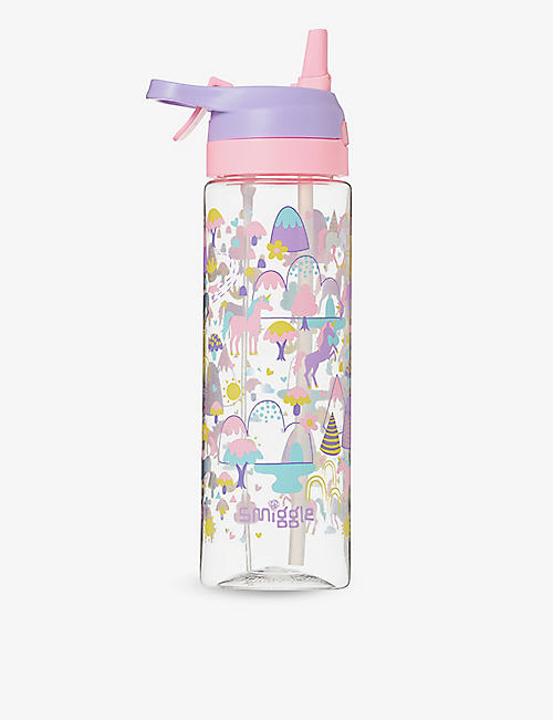 SMIGGLE: Beam Spritz logo-print water bottle 700ml