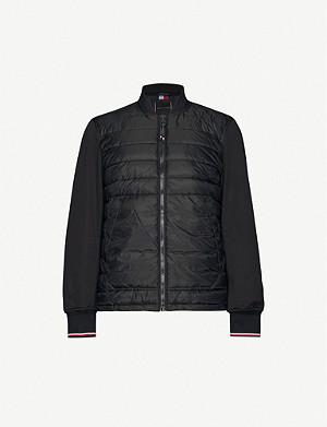 TOMMY HILFIGER Mixed Media shell bomber jacket