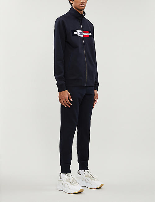 TOMMY HILFIGER Logo-patch cotton-jersey jogging bottoms