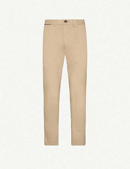 TOMMY HILFIGER Tapered stretch-cotton chinos