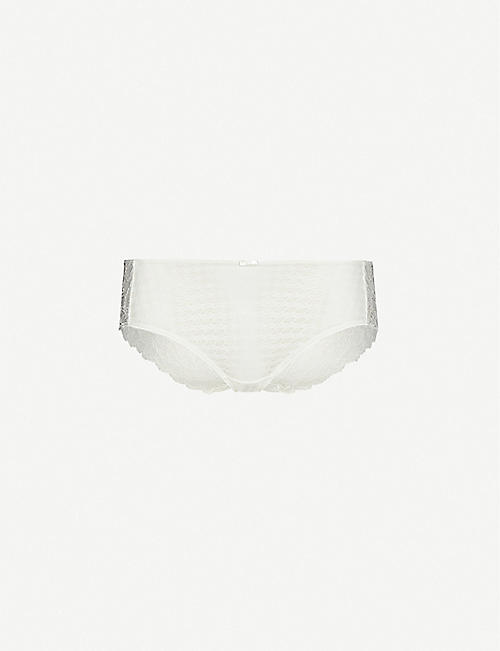 PANACHE: Envy high-rise stretch-lace briefs