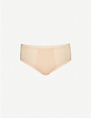 FANTASIE: Fusion striped high-rise woven briefs