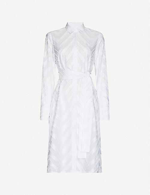 PDN LONDON: Textured cotton midi dress