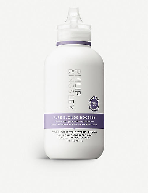 PHILIP KINGSLEY: Pure Blonde Booster Colour-Correcting weekly shampoo 250ml