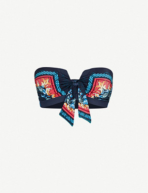 JETS BY JESSIKA ALLEN Finesse baroque-print bikini top