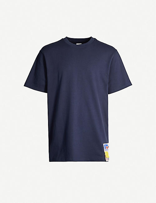 RUSSELL ATHLETIC Logo-patch organic-cotton T-shirt