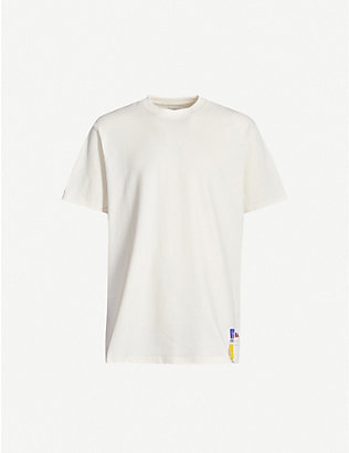 RUSSELL ATHLETIC: Logo-patch organic-cotton T-shirt