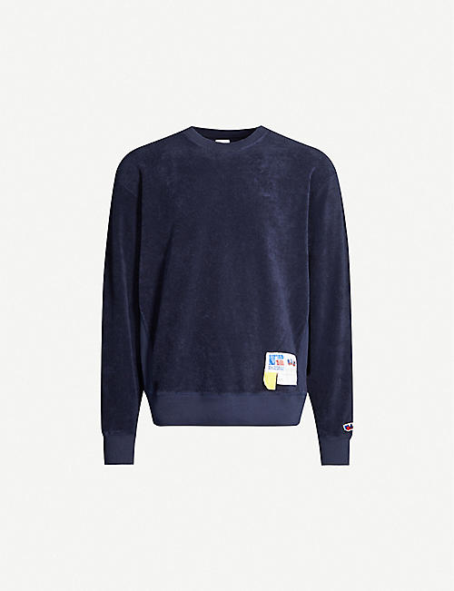 RUSSELL ATHLETIC: Towelling organic-cotton sweatshirt