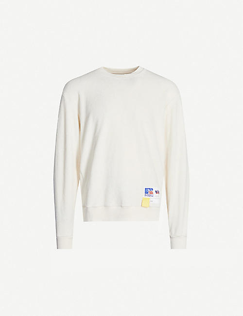 RUSSELL ATHLETIC Towelling organic-cotton sweatshirt