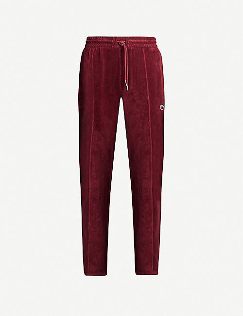 RUSSELL ATHLETIC: Towelling organic-cotton jogging bottoms