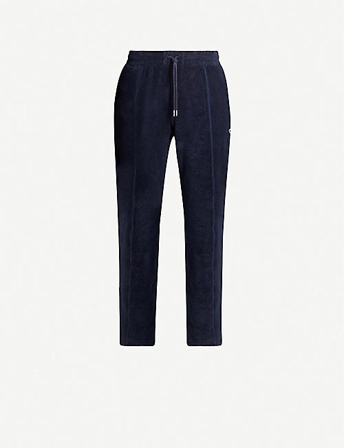 RUSSELL ATHLETIC Towelling organic-cotton jogging bottoms