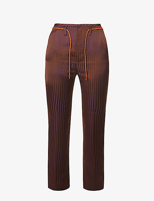 QUETSCHE: Mid-rise tapered woven trousers