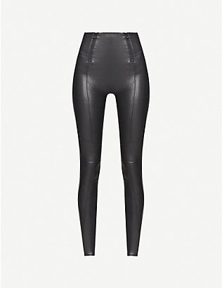SPANX: Shiny high-rise stretch-jersey leggings
