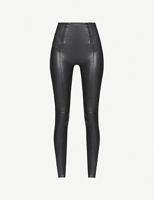 SPANX Shiny high-rise stretch-jersey leggings