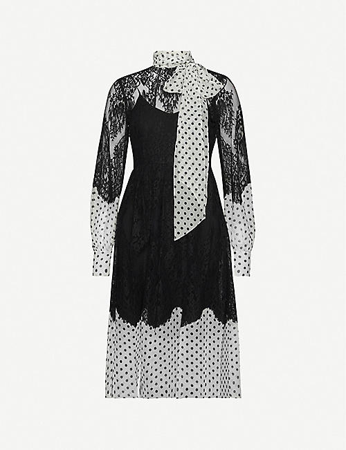 ERDEM Medina polka dot-print silk dress