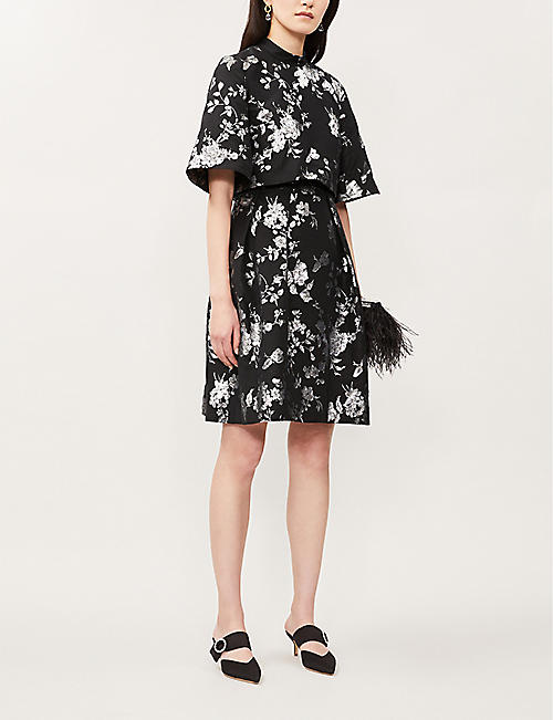 ERDEM Favilla floral-print cotton-blend mini dress