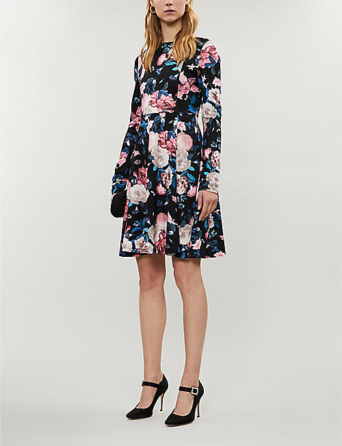 ERDEM Martine floral-print stretch-jersey mini dress