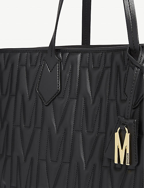 MOSCHINO M quilted tote bag