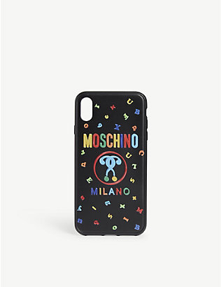 MOSCHINO: Alphabet print iPhone Xs Max case