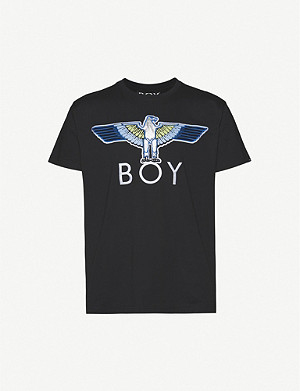 BOY LONDON Logo-embroidered cotton-jersey T-shirt