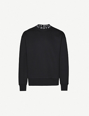 BOY LONDON Logo oversized cotton- jersey sweatshirt
