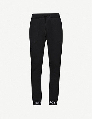BOY LONDON Logo relaxed-fit cotton-jersey jogging bottoms