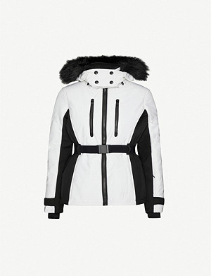 TOPSHOP Sun funnel neck shell ski jacket