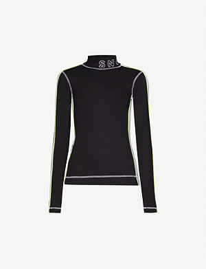 TOPSHOP Sno thermal stretch-jersey top