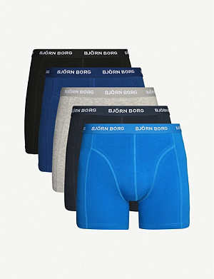 BJORN BORG Stretch-cotton pack of five trunks