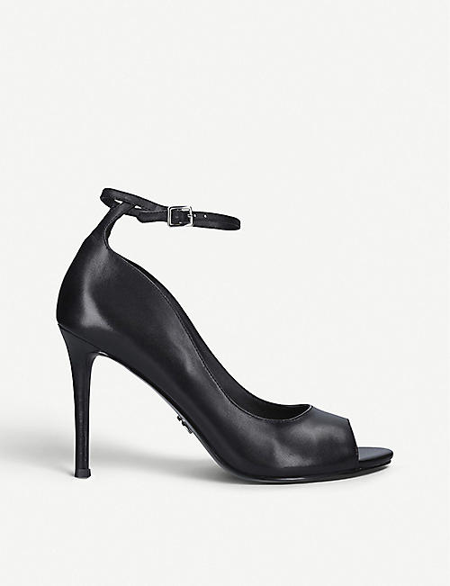 MICHAEL MICHAEL KORS: Danielle open-toe heeled leather courts